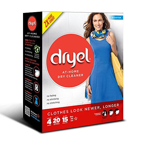 Product Image of the Dryel at-Home Dry Cleaner Starter Kit - 4 Loads (Packaging Image May Vary)