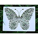 SOOQOO Animal Stencils for Painting - Butterfly Stencils Used On Wall, Wood, Canvas, Fabrics, Metal, Furniture, Picture Frame - Idea for DIY Painting Art Projects, School Projects and Gift Giving