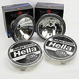 PACK 2 FAROS SIM LARGO ALCANCE TIPO HELLA RALLY 3000 220mm + TAPAS HELLA RALLY 3000