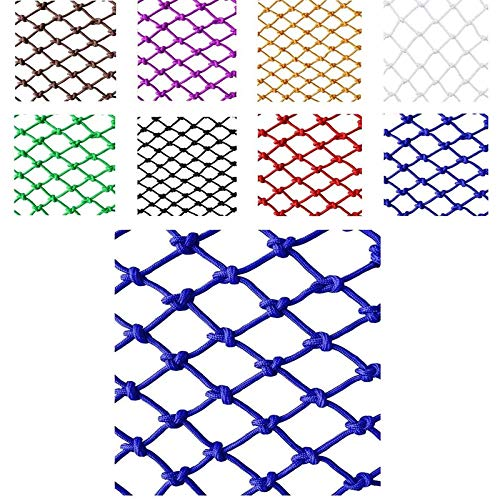 MJHETCY Nets DE Seguridad Azul, NIÑOS DE Rail DE Seguridad DE NIÑOS, Pet Balcón Escaleras Seguridad Red Resistente A La Pared Decoración De La Pared Net Nylon Net Red Red(Size:2x4m)