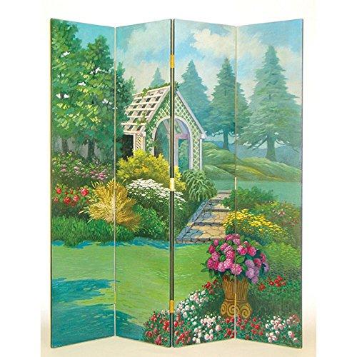 Wayborn Home Furnishing Room Divider with Gazebo Theme, 72', Multicolor