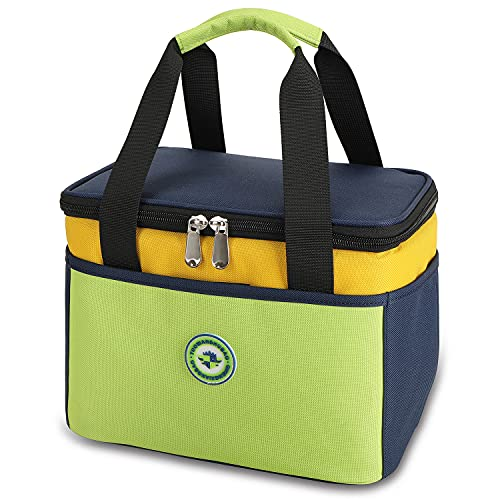 Weitars Lunch Bag for Kids Insulated Kids Lunch Box For Boys Girls Back to School, Reusable Children Lunch Cooler Tote Bag,Perfect Size for Packing Hot or Cold Snacks for School and Travel(Green)