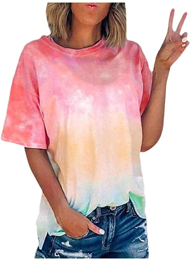 Womens 80s T-Shirt Print Casual Color Lips Graphic Tees Short Sleeve Summer Tops with Funny Graphic for Teen Girls