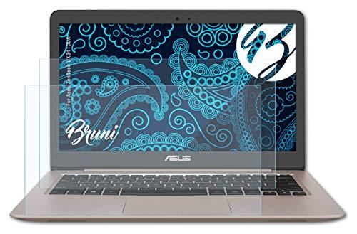 Bruni Schutzfolie kompatibel mit Asus ZenBook UX3410UA Folie, glasklare Bildschirmschutzfolie (2X)