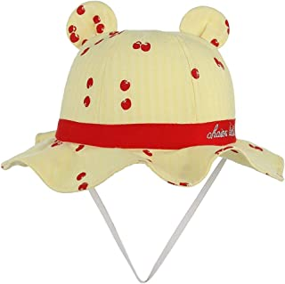 2020 Women Mens Boy Girl Spring Summer Cartoon Fruit Printing Sunscreen Fisherman Hat Casual Soft Decoration Lighting Wool Cotton Size 49CM (Color : Yellow, Size : 49)