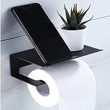 LF-JZJ Soporte para Papel higiénico, Soporte para Rollo montado en la Pared, Estante para baño, Sin Perforaciones, Alumini...