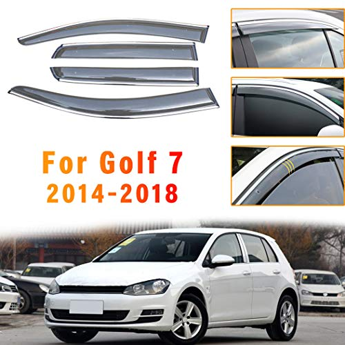 ALLYARD para VW Golf 7 2014-2018 SPuerta Lateral ventilación Lateral Deflectores Ventana Visera Deflector Protector Visera ventilación Guardia 4piezas