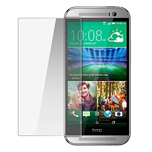 Moarmouz Go - Tempered Glass for HTC One M8 Round Curved 2.5D Edge 9H Hardness Toughened Protector