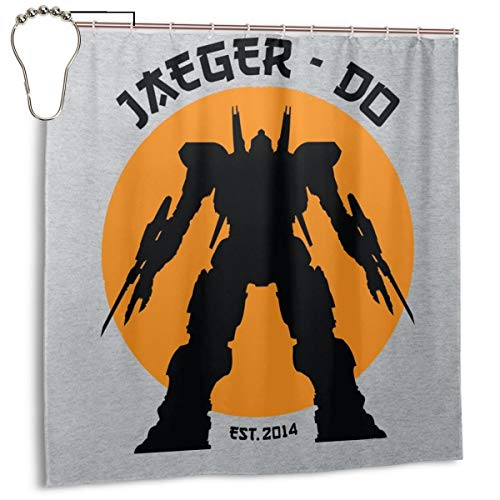 GSEGSEG Wasserdichter Polyester-Duschvorhang Jaeger Do Pacific Rand Karate Kinder mit Haken, 182,9 cm x 182,9 cm