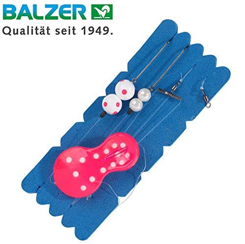 Balzer Inline Plattfisch Blinker System pink/weiß - Meeressystem zum Angeln auf Plattfische, Meeresmontage für Schollen & Butts, Gewicht:60g