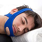 VANVENE Stop Snoring CPAP Chin Strap and Anti Snoring Solution,Adjustable Anti-Snore Supporter Device (Blue Strap)
