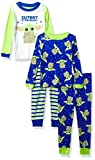 STAR WARS Boys' Mandalorian 4-Piece Cotton Pajama Set, Protect, 2T