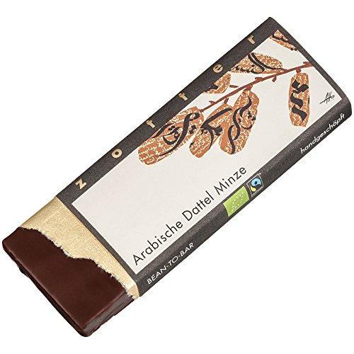 Zotter Milchschokolade mit arabischen Datteln & Minze, handgeschöpft (70 g) - Bio