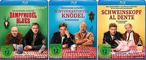 Eberhofer - 3 Blu-Ray Set (Dampfnudelblues + Winterkartoffelknödel + Schweinskopf al dente) - Deutsche Originalware [3 Blu-rays]
