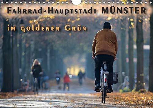Fahrrad-Hauptstadt MÜNSTER im goldenen Grün (Wandkalender 2020 DIN A4 quer):