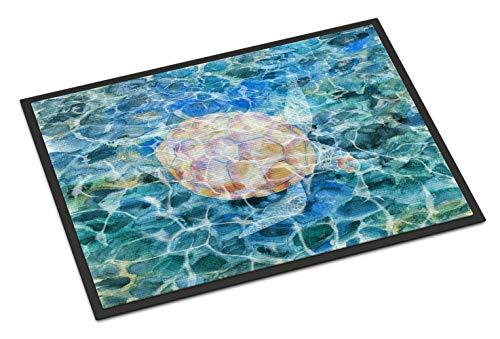 Caroline Tesoros del mar Tortuga bajo el Agua Felpudo, 18h x 27W, Multicolor