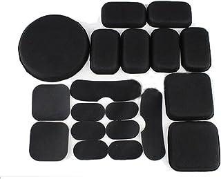 SGOYH Táctico Airsoft Casco Almohadillas Protectoras Cojines Memoria Negro EVA Foam Casco Accesorios