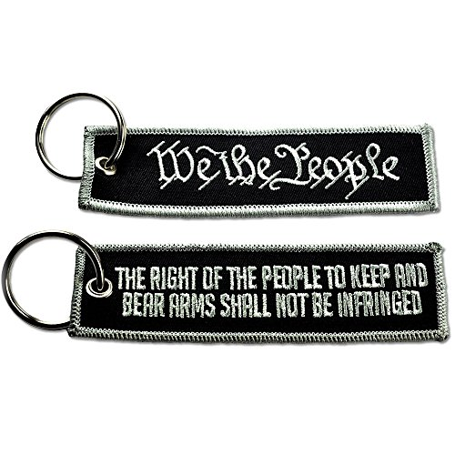 BASTION WE The People New Tactical Embroidered Key Chain Key TAG BLK
