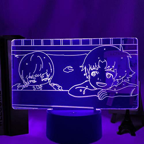 Lámpara de ilusión 3D Luz de noche LED Anime Devilman Ryo Asuka X Akira Regalo de cumpleaños para niños Decoración de dormitorio