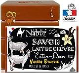 Nabür - 4 jabones frescos de leche de cabra | Fabricado en Francia | Eczema de tipo piel sensible, psoriasis, jabón para el acné, imperfecciones