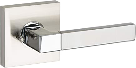 AVALON 0510 - Contemporary / Modern Door Handles / Levers (Privacy / Passage) - Satin Nickel - Polished Chrome Finish