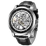 BERSIGAR automático Reloj de Hombre con Mecanismo de Esqueleto Transparente-Impermeable Hombres Reloj