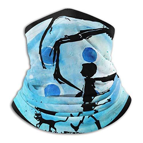 huatongxin Coraline Blue Vollmond Albtraum Katze Halloween Horror Button Mikrofaser...