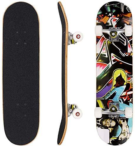 Hikole Skateboard Completo, Pro 31 Pulgadas Monopatín para