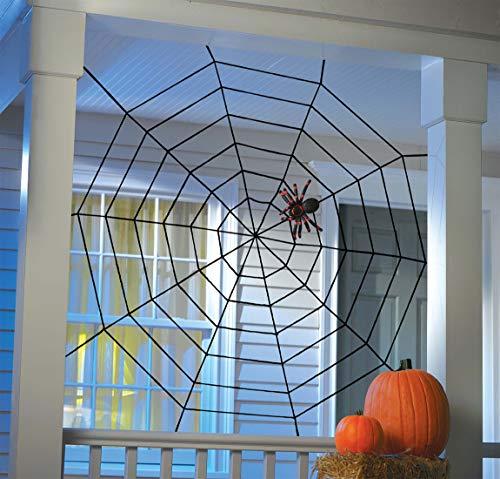 Amscan 670381-55 - Spinnennetz Seil, Größe 152x152 cm, Dekoration, Mottoparty, Halloween