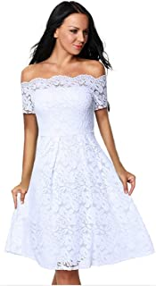 Eastylish Elegant Women's Sexy Off Shoulder Lace Casual Cocktail Wedding Party Dress …