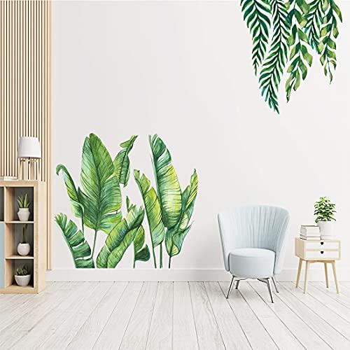 YXHZVON Vinilos Decorativos Hojas Pegatinas Pared de Planta Banana 60 x 90 cm, Planta Tropicales Vinilos Decorativos Pared Sala Habitación Dormitorio Oficina