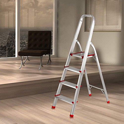 Finether-Escalera Plegable Aluminio de Peldaño de Interior(EN131, 4 FT, Mayor Seguridad, Capacidad: 150kg): Amazon.es: Bricolaje y herramientas