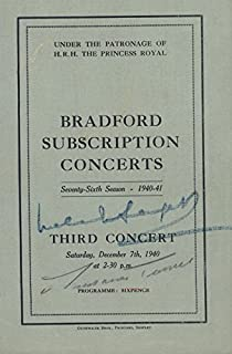 Malcolm Sargent - Program Signed Circa 1940 co-signed By: Laurance Turner