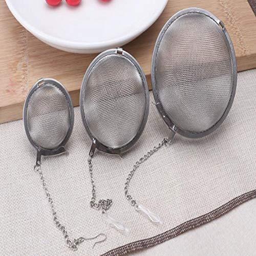 JUNSHUO 3PCS Infuser Ultrafeiner Edelstahl Lebensmittelqualität Teesieb Mesh-Tee-Kugel Wiederverwendbare Teeblatt Infuser Filter mit Kette, für losen Tee und Mulling Gewürze(5/7/9 cm)