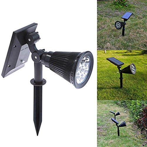 Bazaar Lampe solaire 7 LED étanche IP65 Extérieur Jardin Pelouse Paysage Décoration