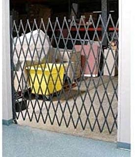 5-1/2'W Single Folding Security Gate, 5'H