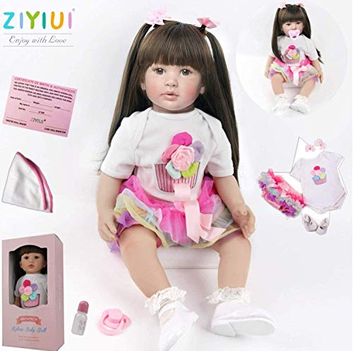 ZIYIUI 24 Inches 60cm Reborn Dolls Girl Soft Silicone Vinyl Reborn Babies...