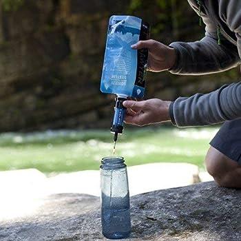 Sawyer Products - Filtre d'eau pour randonnée, accessoire camping, trekking MINI set de 2 (Bleu-Vert)