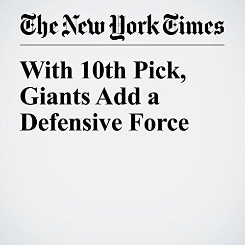 With 10th Pick, Giants Add a Defensive Force audiobook cover art