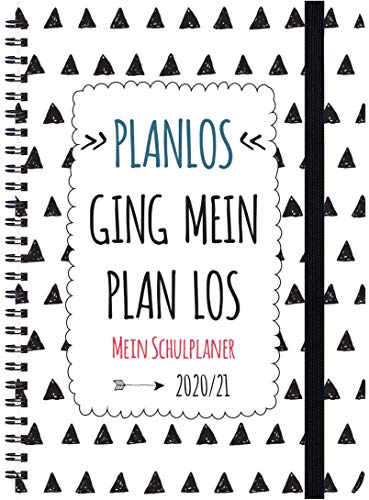 Schülerkalender Planlos 2020/2021: mit 12-monat.-Kalendarium von August 2020 bis Juli 2021. Pro Woche 2 Seiten mit viel Platz für Notizen. Format 14,8 x 21 cm