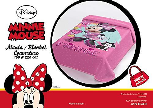 OEKO-TEX Manta Terciopelo Disney Modelo: Minnie Mouse