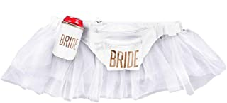 White Tutu Bachelorette Party and Wedding Bride Fanny Pack Waist Bag