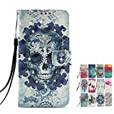LA-Otter Compatible for Sony Xperia L2 Wallet Case Diamond
