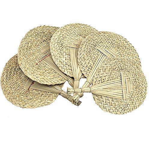 YIY 5 abancos de mano tejidos naturales hechos a mano con hojas...