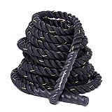 KYLIN SPORT Corde de Bataille Ø 38mm 12m/15m Corde d'entraînement Corde de Fitness Bataille Ondulatoire pour la Musculation Formation (12M)