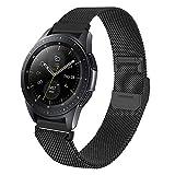 correa 22mm metal de acero inoxidable correas brazalete repuesto compatible con samsung galaxy watch 45mm 46mm/ gear s3 frontier/gear classic/smartwatch pulseras,Negro
