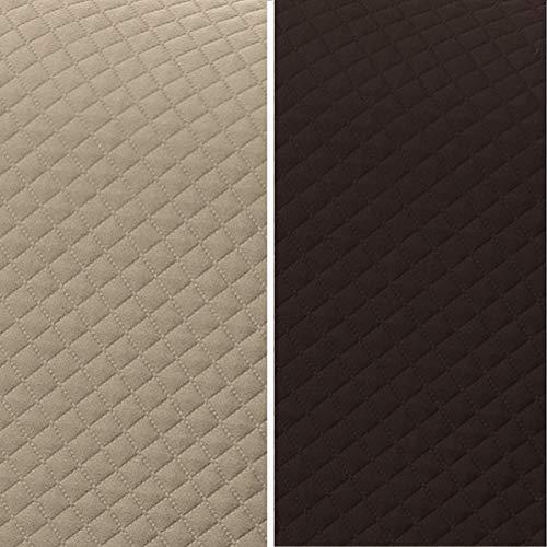 textil-home Salvadivano Trapuntato Copridivano Adele 2 posti Reversibile. Colore Beige