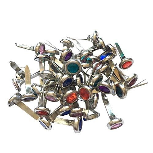 Amosfun 100 UNIDS Mini Brads Metal Brads Pastel Adorno Broches de Adorno para DIY Scrapbooking Manualidades Hacer Estampado