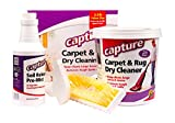 Capture Carpet Dry Cleaning Kit 250 - Deodorize Stains Smell Moisture from Rug Furniture Clothes and Fabric, Pet Stains Odor and Smoke Too