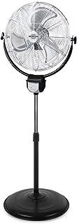 Orbegozo 17226 Ventilador industrial 2 en 1: pie y pared, función oscilante, mando a distancia, 45 cm de diámetro, 3 velocidades, altura regulable hasta 140 cm, 120 W de potencia, No aplica